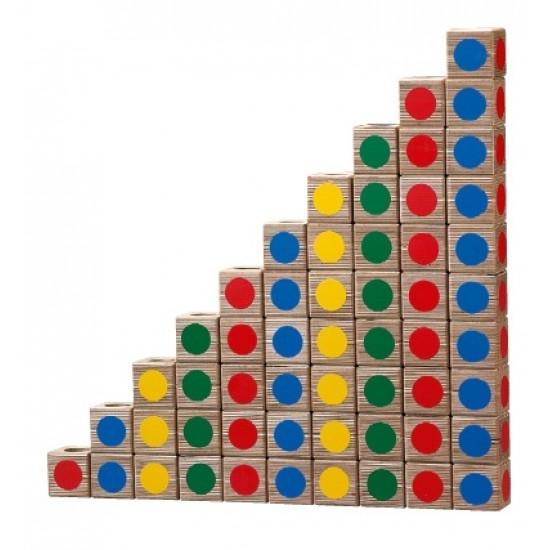 Joc de constructie cuburi colorate