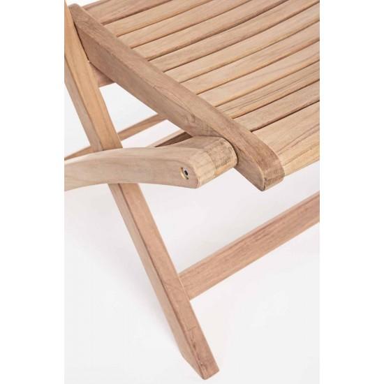 Scaun pliant lemn de tec Andree