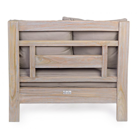 Fotoliu clasic lemn de tec Elisa