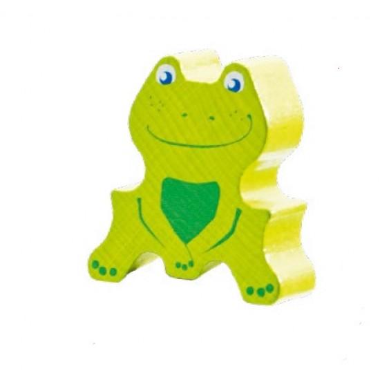 Joc cu 100 de piese din lemn de fag Cheeky Frogs