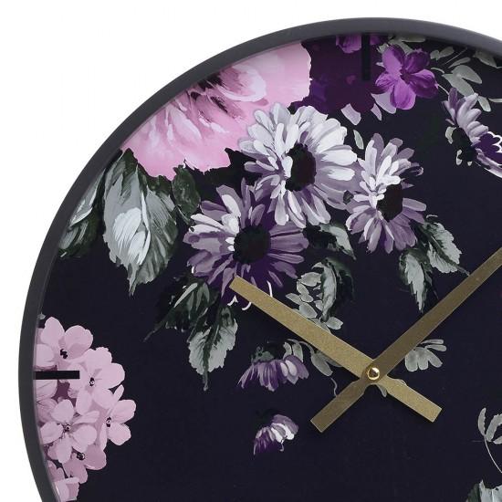 Ceas lemn de perete Flowers, D40 cm