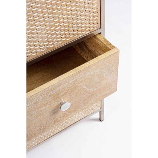 Comoda 4 sertare si usa din lemn de mango Provensio