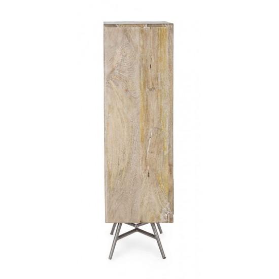 Comoda 5 sertare din lemn de mango Astras