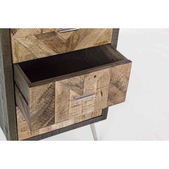 Comoda 5 sertare din lemn de mango Lakka