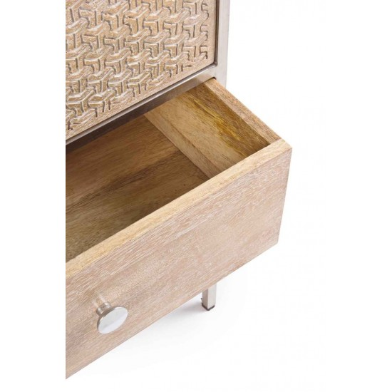 Comoda 5 sertare din lemn de mango Solana