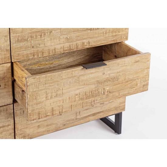 Comoda 6 sertare din lemn de mango Moya