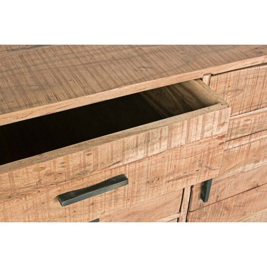 Comoda cu sertare si usi din lemn de acacia Viborg