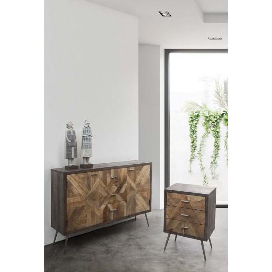 Comoda dormitor din lemn de mango Klarup