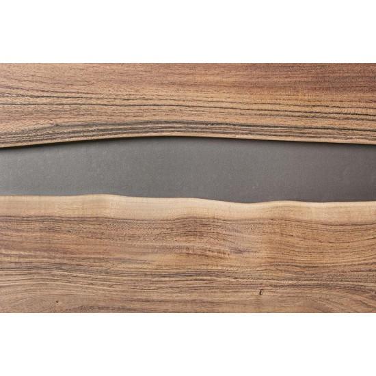 Comoda inalta din lemn de acacia si otel Jerup