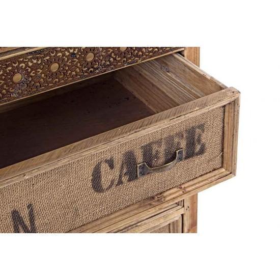 Comoda sertare si usi din lemn de pin Paros