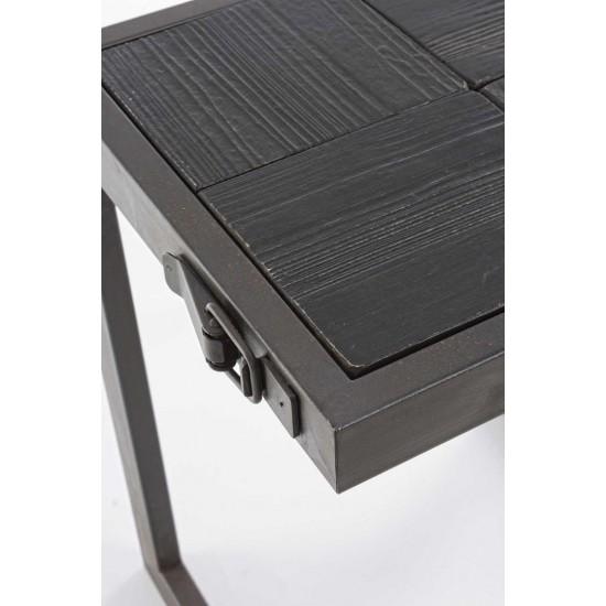 Taburet din lemn si metal Borja